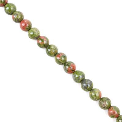 175cts Unakite Plain Round Rounds Approx 8mm 38cm