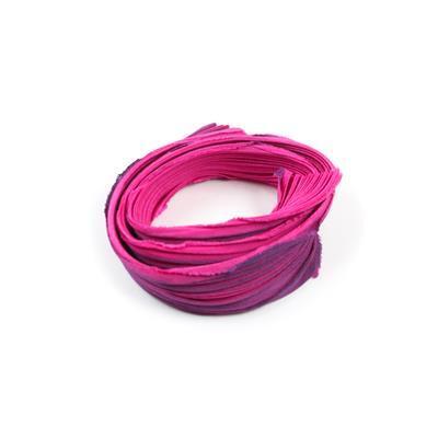 Dark Princess Shibori Silk Ribbon 1/2 Yard