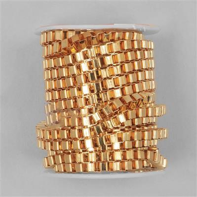 5m Rose Gold Coloured Brass Box Chain Approx 5mm