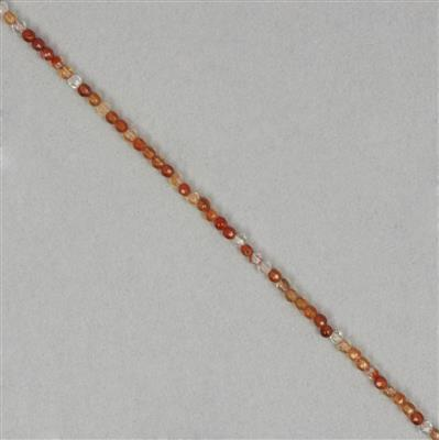 8cts Carnelian Faceted Rounds Approx 2mm