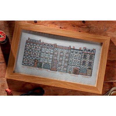 Blackwork Street by Jane Greenoff. 30.5 x 14cm (12 x 5.5ins)