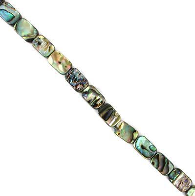 Abalone Flat Rectangles Approx 12x8mm, Approx 38cm Strand