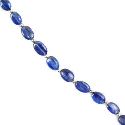 32cts Kyanite Graduated Plain Ovals Approx 6x4 to 9x7mm, 18cm Strand.