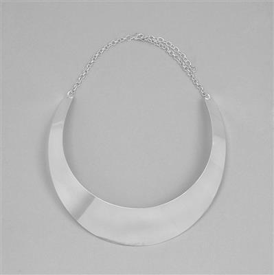Silver Plated Brass Collar Approx 108x30mm