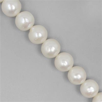 Mega Auction White Freshwater Cultured Near Round Pearls Approx 9 to 11mm