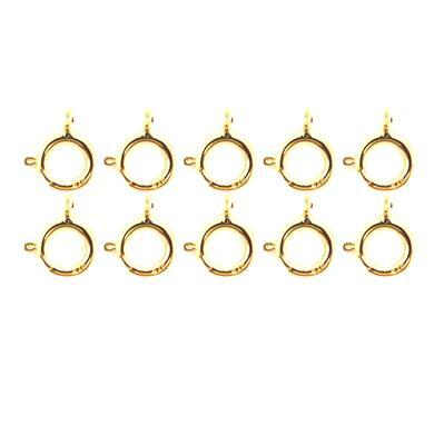 Gold Plated 925 Sterling Silver Bolt Ring Clasp 10mm (10pcs)