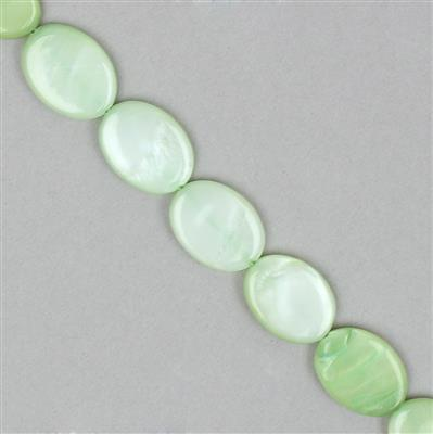 Green Shell Ovals Approx 17x12mm