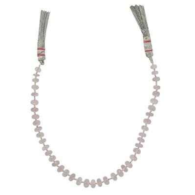 45cts Morganite Graduated Faceted Rondelles Approx From 4x2 to 6x3mm, 20cm Strand.