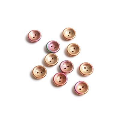 Czech Glass Cup Ancient Gold Beads, Approx 13x4mm (10pk)