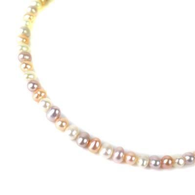 Multi-Colour Freshwater Cultured Potato Pearls Approx 5x6mm, Approx 38cm Strand