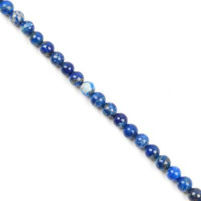 90cts Lapis Lazuli Plain Rounds Approx 6mm
