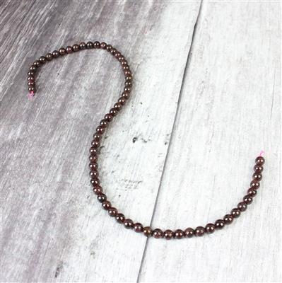 150cts Red Garnet Plain Rounds Approx 6mm, 38cm strand