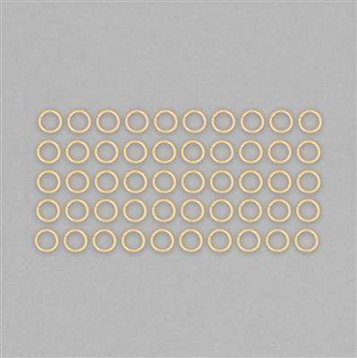 Gold Plated 925 Sterling Silver Open Jump Rings Approx 7mm. (50pcs)