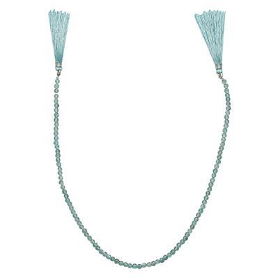 28cts Sky Blue Apatite Graduated Plain Rounds Approx 2 to 4mm, 30cm Strand.