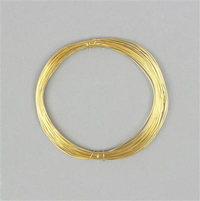 10m Gold Plated Soft Copper Wire 0.6mm