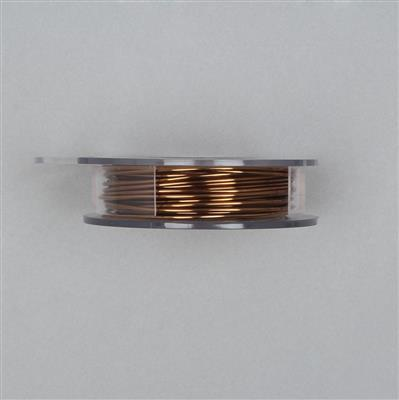 10m Antique Bronze Coloured Copper Wire 1.25mm