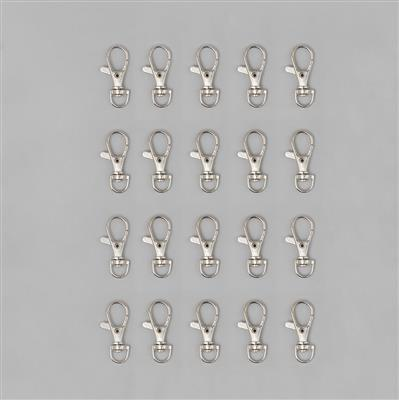 Silver Plated Iron Key Ring Clasp 3.5cm (20pcs/pack)