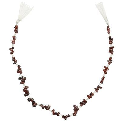 68cts Rhodolite Garnet Graduated Irregular Plain Drops Approx 5x2 to 8x3mm, 32cm Strand.