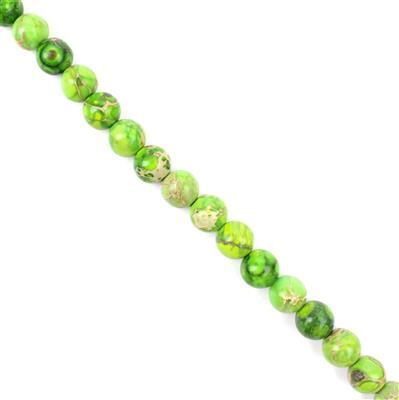 130cts Peridot Green Variscite Plain Rounds Approx 8mm 38cm