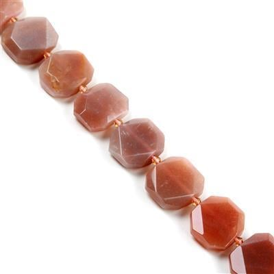 550cts Sunstone Faceted Slabs Approx from 19x22 to 21x24mm, 17pcs per strand