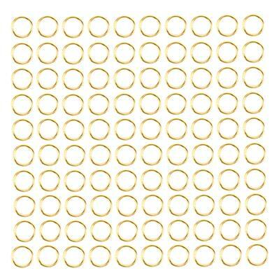 Gold Coloured Brass Open Jump Rings Approx 9mm (Approx 100pcs)