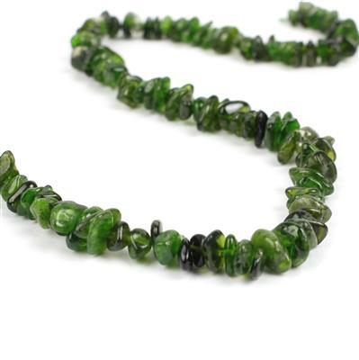 150cts Chrome Diopside Chips Approx 5x2~10x7mm, 38cm strand