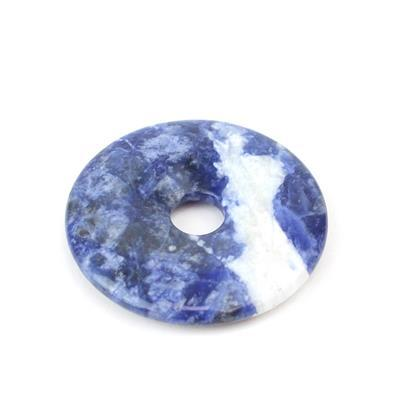 40cts Sodalite Donut Approx 40mm,1pk