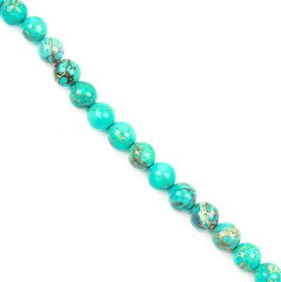 280cts Turquoise Green Variscite Plain Rounds Approx12mm 38cm