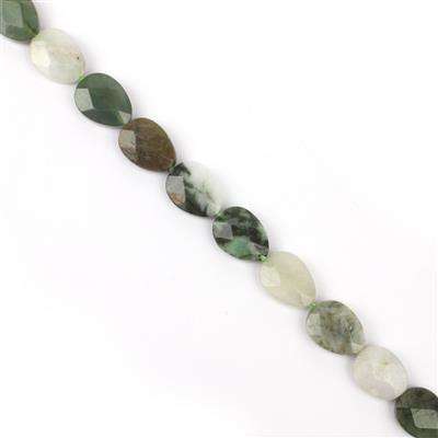 240cts Burmese Multi-Colour Jadeite Faceted Pears Approx 16x12mm, 38cm strand