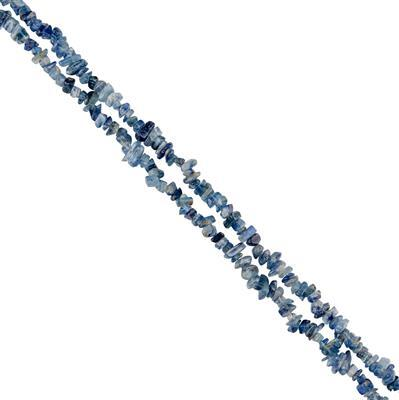260cts Kyanite Plain Small Nuggets Approx 2x1 to 7x2mm, 84cm Strand.