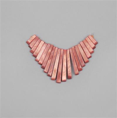 Pink Shell Graduated Bars Approx 9x3mm to 30x4mm (Approx 21pcs)