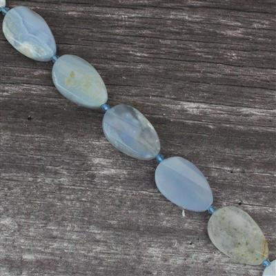430cts Blue Chalcedony Faceted Pears Approx 22x32mm 38cm