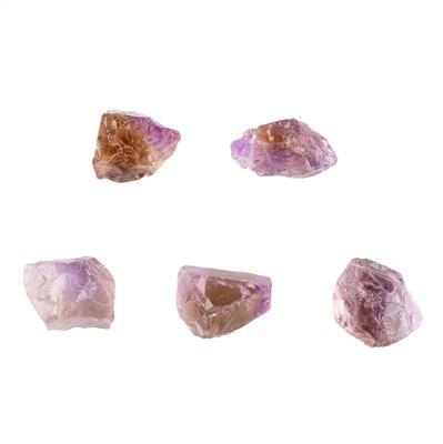 140cts Ametrine Drilled Rough Assortment.