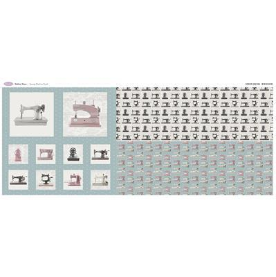 Debbie Shore's Sewing Machine Panel. 140 x 62cm.