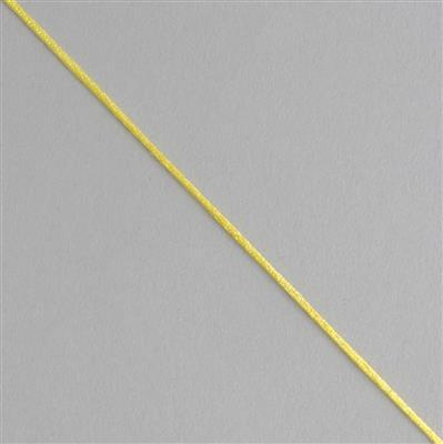 10m Yellow Satin Cord 1mm