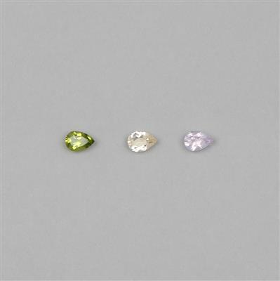 10x7mm Pear Cut Gemstone Collection