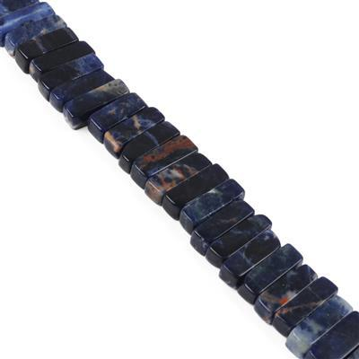 300cts Sodalite Bars Approx 16x5mm, Approx 38cm Strand