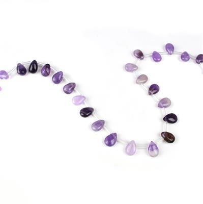 100cts Amethyst Pears Approx 12x8mm