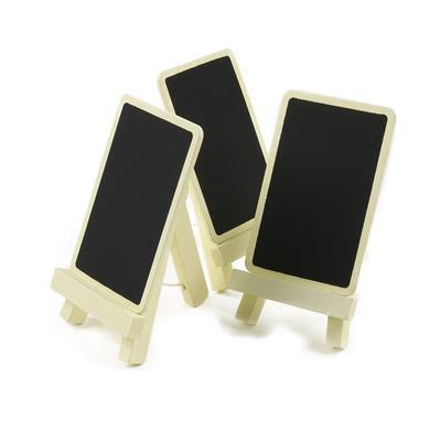 Small Ivory Chalkboard Stand Approx 9.5 x 5.5cm 3pk