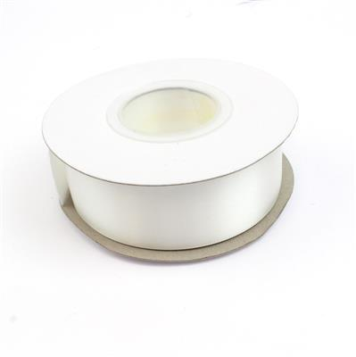 20m Off White Double Faced Satin Ribbon, Approx 32mm