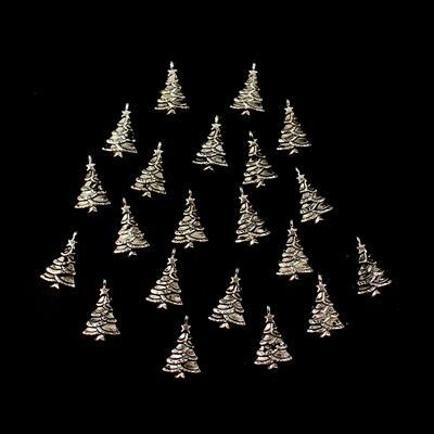 Christmas Trees Charms Approx 30x18mm 20pk