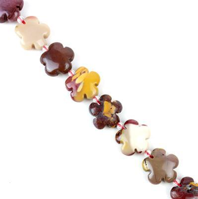 220cts Mookite Five-Petal Flowers Appox 15mm, 27pcs/strand