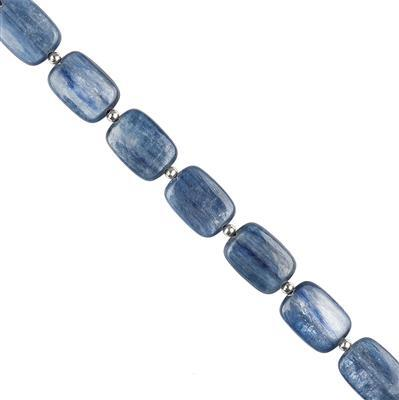 140cts Kyanite Plain Rectangles Approx 17x13mm, 20cm Strand.