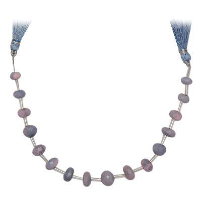 55cts Lavender Opal Graduated Faceted Rondelles Approx 7x4 to 10x5mm, 18cm Strand.