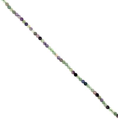 120cts Fluorite Plain Rounds Approx 6mm, 38cm strand