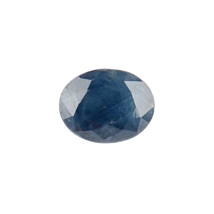 3.70cts Blue Sapphire Fancy Cut Oval 10X8mm,