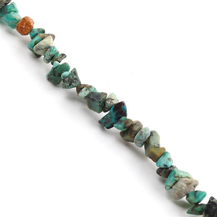 230cts Turquoise Small Nuggets Approx from 3x5 to 6x10mm, 82-86cm strand