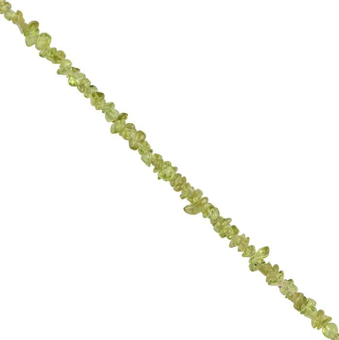 135cts Peridot Plain Nuggets Approx 2x1 to 3x2mm, 98cm Strand.
