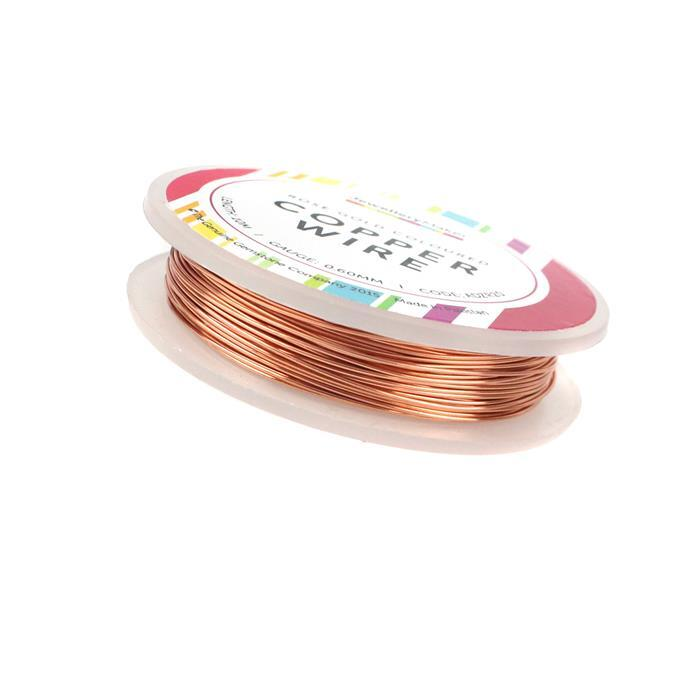 10m Rose Gold Colored Silver Plated Copper Wire 0.6mm
