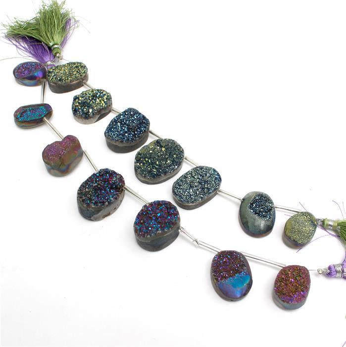 Simon's DEAL WHEEL Special! 510cts Purple & Greenish Blue Coated Druzy Quartz.